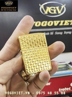 Bật lửa zippo Mỹ chính hãng mạ vàng 24K