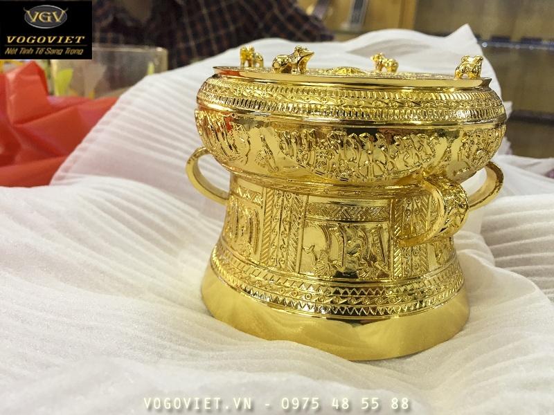 Trống Đồng Đông Sơn Mạ Vàng  24K 2